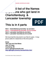 Charlottenburg Township Glengarry County Land List 1790 by lot number  Part 2