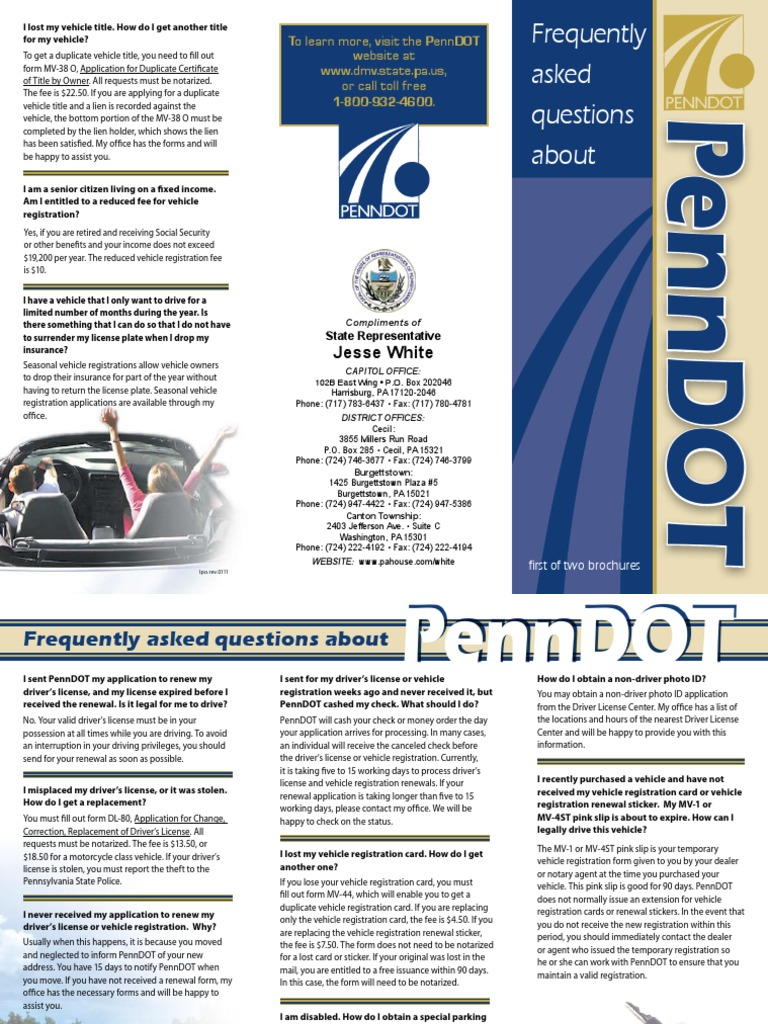 PennDOT Info (Part 1) | Driver\'s License | Notary Public