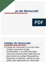 O Código de Hamurabi