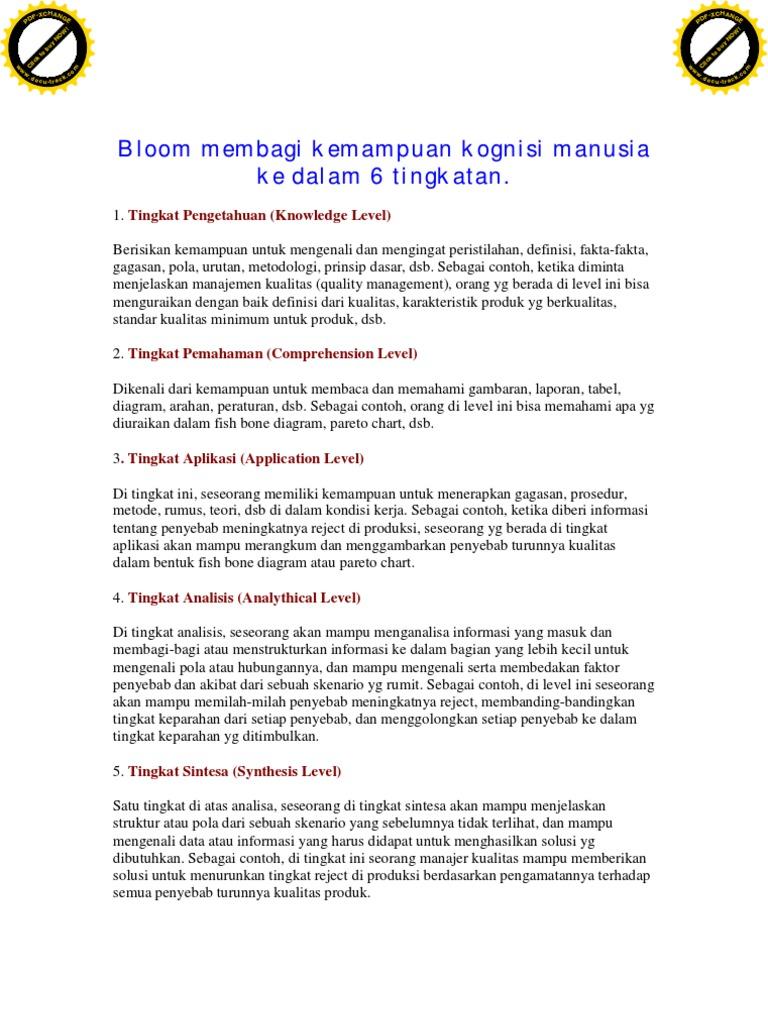 Taksonomi Bloom Affect Psychology Value Ethics