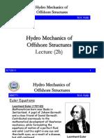 2b HydroMechanicsofOffshoreStructuresmm771 2008 2009 Lecture 2b