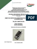 Análisis de Objeto Técnico LA PALMTOP