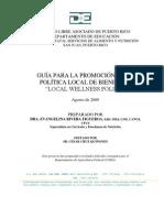 Guía para la Preparación de la Política Local de Bienestar