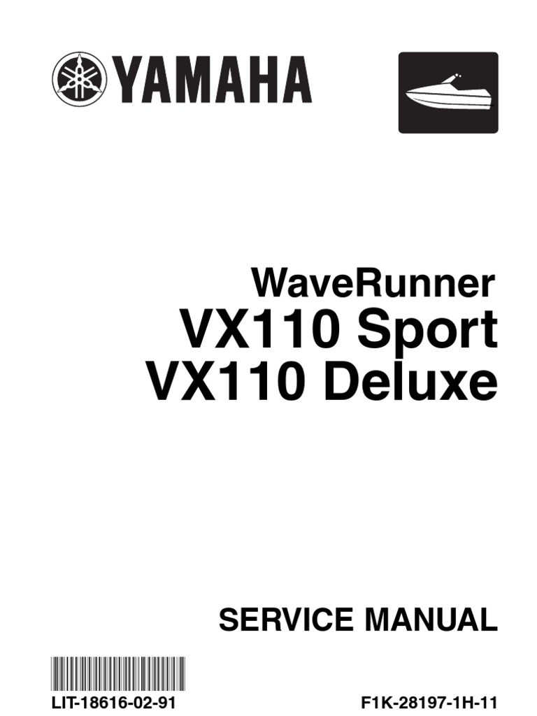 LIT-18616-02-91 2004 Yamaha Wave Runner VX110 Sport Serv Manual   Throttle    Screw