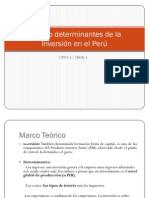 Modelo determinantes de la Inversión en el Perú