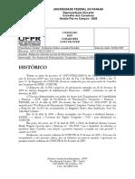 Parecer do Balancete de Fevereiro de 2009 - UFPR