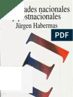 Identidades Nacionales y Postnacionales (Jurgen Habermas)