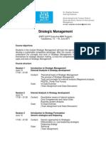 Syllabus Strategic Management - EnPC-EHTP June 2011