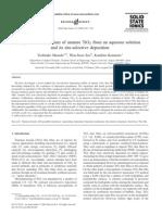 Sintesis de Dioxido de Titanio Con Acido Borico y (NH4)2TiF6