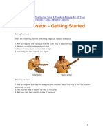 Guitar Lesson - Getting Started