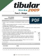 2009 - UEM Vestibular de verão - biologia - prova 3
