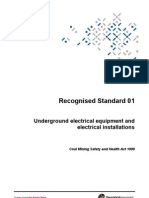 Underground Electrical Equipment and Electrical Installations