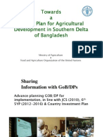 Master Plan for Agricultural Development in Southern Delta of Bangladesh