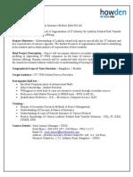 Summer Internship - IT Industry - Howden