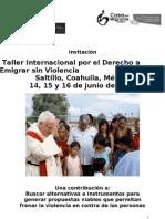 Invitacin Taller Internacional Migrantes Saltillo, 14, 15 y 16 de Junio de 2011[1]