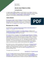 Visita Juan Pablo II a Chile  resumen