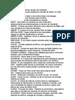 Pequeno Dicionário da Umbanda