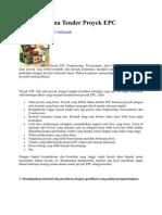 Strategi Utama Tender Proyek EPC -Dc