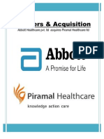 Merger and Acquistion of Pharmaseutical Sector