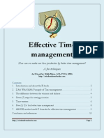 Effective Time Management E Book