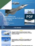 10 F35 Flight Control Development Dave Nixon