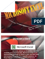An Overview of MS EXCEL