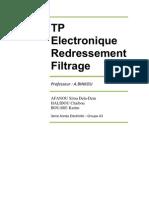 TP Electronique REDRESSEMENT FILTRAGE par Armel-Sitou Afanou