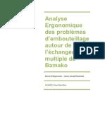 Analyse Ergonomique des problèmes d'embouteillage autour de l'échangeur multiple de Bamako par Armel-Sitou Afanou