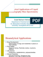Bio Analytical Application of LC-MS