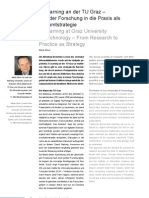 E-Learning an der TU Graz – Von der Forschung in die Praxis als Gesamtstrategie / E-Learning at Graz University of Technology – From Research to Practice as Strategy