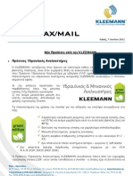 KLEEMANN NewsFax/Mail 06/11 (greek version)