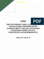 GP 043 - 1999 Ghid de Proiectare Inst Apa - Canal Cu Cond de PVC