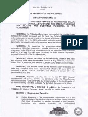 Salary Grade 3rd Philippines   Inspector   Lieutenant