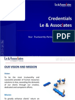 Le & Associates (L&A) Credentials 2011 (English)