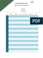 Aa Atendance Sheet