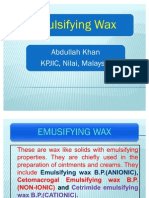 Emulsifying Wax PPT