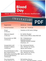 World Blood Donor Day Invitation