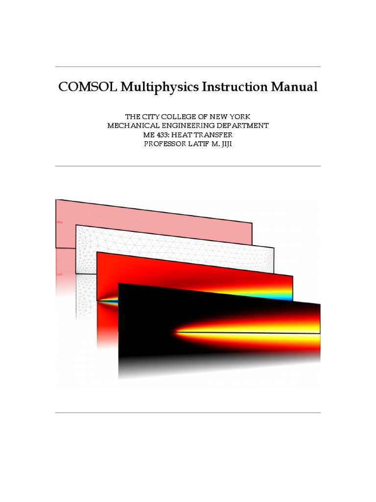 COMSOL Multi Physics Instruction Manual | Heat Transfer | Thermal Conduction