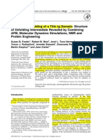 Artigo 7 - Mechanical Unfolding of a Titin Ig Domain Structure of Unfolding Intermediate Revealed by Combining AFM Molecular Dynamics Simulations NMR and Protein Engineering