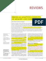 Artigo 9- Prions as Adaptative Conduits of Memory and Inheritance