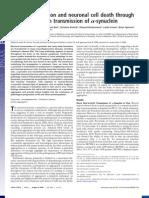 Artigos 18- Inclusion Formation and Neuronal Cell Death Through Neuron-To-neuron Transmission of Alfa Sinuclein