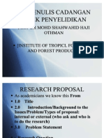 Tips Research Proposal - Prof. Shahwahid