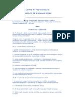Lei Geral Das Telecomunicacoes Brasil Julho 1997