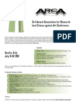 ARCA 2011 Conference Poster