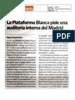 Press Clipping Prensa Escrita Acto Plataforma Blanca 2011-06