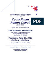 Councilman Robert Duvall Fundraiser