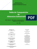 Tabla Composicion Alim Peru