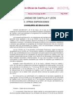 BOCYL-ORDEN EDU/661/2011 Ayudas para estudios internacionales Universidades Castilla y León NO ERASMUS