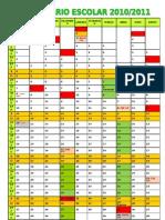 Calendário Escolar 2010-2011_Grelha