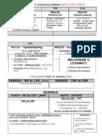 Cronograma de Estudo Da Semana Modelo